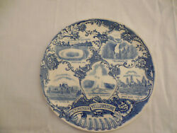 Old English Stafforshire Ware Blue Yellowstone Collectors Plate