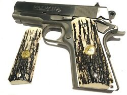 1911 Compact Gripssale 45.73 Fits Colt Officers And Defendersgold Rampant Horse