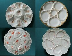 Oyster Plates Antique Ceramic Limoges - Austrian Carlsbad - Germany Pick 1