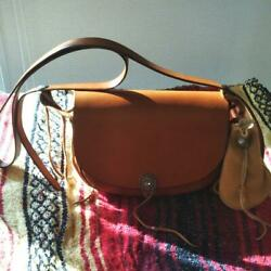 Goro's Remake Vintage Brown Leather Cross Body Pouch Bag Ladies F/s From Japan