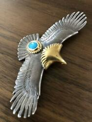 Tady And King Eagle Pendant Top 18k Gold Eagle Turquoise Large Genuine F/s From Jp