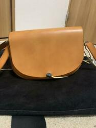 Goroand039s Saddle Leather Turquoise Concho Shoulder Bag Brown F/s From Japan