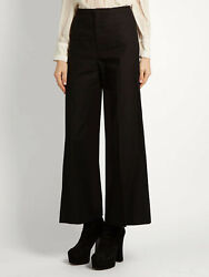 Isabel Marant Women Black Spanel Wide-leg Cropped Trousers Pant Nwt 30 X 29 445