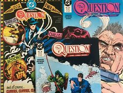 The Question.  No's 18-20. 3 Issue Lot. Vintage 1988. Dennis O'neil-story. Dc