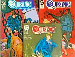The Question. No's 27-29. 3 Issue Lot. Vintage 1989. Dennis O'neil-story. Dc