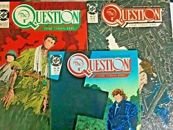 The Question. No's 30-32. 3 Issue Lot. Vintage 1989. Dennis O'neil-story. Dc