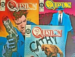 The Question. No's 33-35. 3 Issue Lot. Vintage 1989. Dennis O'neil-story. Dc