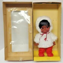 Canadiana Doll Native American Indian Girl/baby Regal Toy Vintage Rare 15cwl9