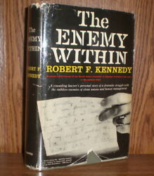 Signed 1st - The Enemy Within Robert F. Kennedy With Telephone Message Ephemera