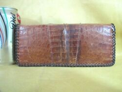 Vintage Alligator Leather Clutch Wallet Coin Purse Womens