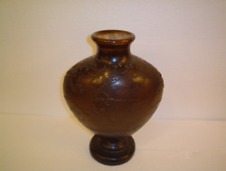 Authentic - Signed Galle Vase - Landscape in shades of Brown