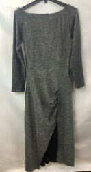 Woman's Black Silver Evening Dress. Size Large. Free Shipping. $10.99