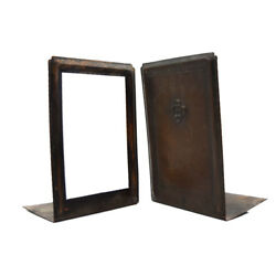 Roycroft Copper Bookends Turn Of The 20th Century 8.5 X 5.75 X 4 Each