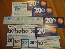Huge Lot Of 24 Bed Bath And Beyond Coupons 5 10 15 20 20 Off Certificate Card