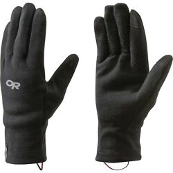 Outdoor Research 238029 Mens Woolly Sensor Liners Ski Gloves Black Size Medium $30.40
