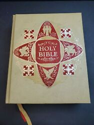 Vintage Holy Bible Deluxe Family Heritage Edition King James Illustrated 11 X 9