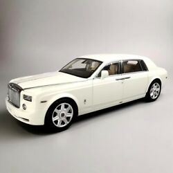 New 118 Rolls-royce Phantom Extended White Diecast Car Model Kyosho Collection
