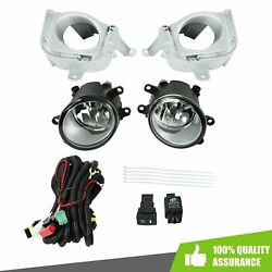 Clear Len Front Bumper Fog Light Switch+harness For 2010 2011 10 11 Toyota Prius