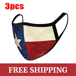 2pcs Unisex Texas Flag Mask Reusable Washable Cover Face Masks USA Stock $9.99