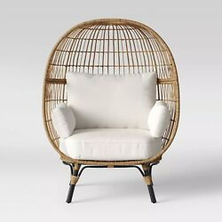 Southport Wicker Patio Egg Outdoor Chair Opalhouse Side And Back Cushion 4 Colors