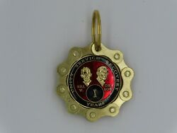 Alcoholics Anonymous AA CA Key Chain Chip Holder Keyring Gold Gift Medallion  $10.88