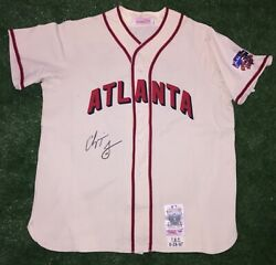 Chipper Jones Atlanta Braves 1997 Game Jersey With Use Tbtc Signed Psa Auth