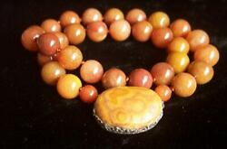 One Of Kind - Amazing Antique Chinese Silver Red Jade Necklace