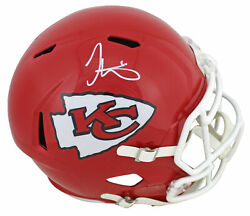 Chiefs Tyreek Hill Signed Full Size Speed Rep Helmet White Sig. Bas Witnessed