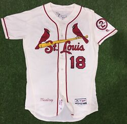 Carlos Martinez St. Louis Cardinals Game Used Worn Jersey 2018 Mlb Auth