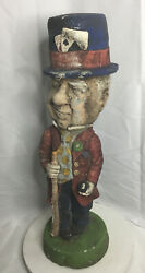 """Old WC FIELDS 24"""" Tall Ceramic Statue By Penguine Productions 1973"""
