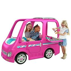 Power Wheels Barbie Dream Camper, Battery-powered Ride-on Vehicle Free Shipping