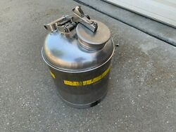Eagle 1325 5 Gallon Stainless Steel Metal Disposal Can Fm