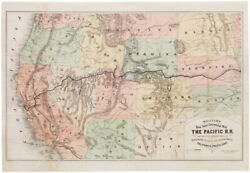 Williams New Trans-continental Map Of The Pacific R.r. And Routes Of Overland Tr