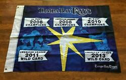 Tampa Bay Rays 2008-13 Al East Mlb Champions 2-sided Wall Hanging Banner Flag