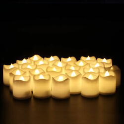 HOT 24PCS Flameless Votive Tealight Candles Battery Operated 24 LED Tea Light