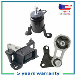 Engine Motor And Trans Mount Set 3pcs. 2011-2017 For Ford Fiesta 1.6l For Manual.