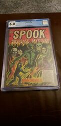 Spook 30 Cgc 6.0 Jay Disbrow Cover And Art 1954 Last Issue Key Golden Age Horror