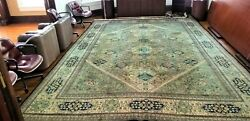 C 1970 Stunning Vintage Exquisite Hand Made Rug 10x13 Stunning Architects Office