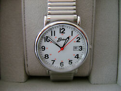 Easy To Read Expansion Band Belair Watch Co 35mm Railroad Style Swiss Components