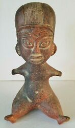 Mayan Aztec God Clay Statue Mexican Pottery