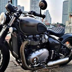Triumph Seat Real Leather Bobber Exclude Spindle Base And Seat