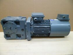 Lenze Gks05-3m Har Gearbox With Motor And Encoder 277- 480 Vac. 3ph. N.o.s.