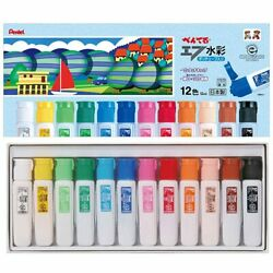 Pentel paints F watercolor WFC2-12 poly tube containing 12 colors