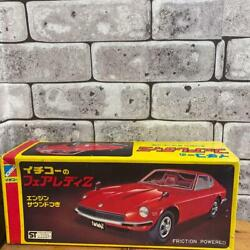 Ichiko Fairlady Z Tin Toy Cars Red Vintage Genuine Made In Japan Free Shipping
