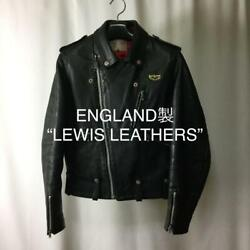Lewis Leathers Jacket 70s Replica Vintage Made In England Black Used Men S F/s