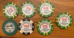 7 Wsop World Series Of Poker Chips Ultra Rare From Estate Sale. L@@k Last Ones