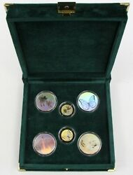 1998 True Color Hologram Gold And Silver Proof Set 1/5 Oz Gold And 1 Oz Silver .999