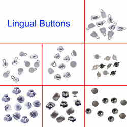 8 Models Dental Orthodontic Lingual Buttons Bondable Round Mesh Base Supplies