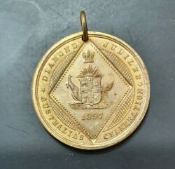 1897 Queen Victoria Diamond Jubilee Medallion Mint Unc Young Head And Veiled Bust