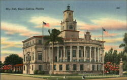 Coral GablesFL City Hall Miami-Dade County Florida Miami Post Card Co. Postcard